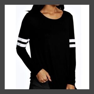 Tops - ❗️NOW HERE❗️Loose Round Neck Long Sleeve Tee